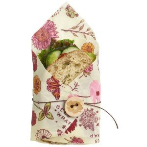 Bee's Wrap 1-pak Vegansk Single Sandwich Madpapir - Meadow Magic
