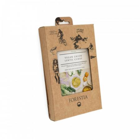 Forestia Vegansk grønne linser karry - Veganer ret - incl. Varmeelement